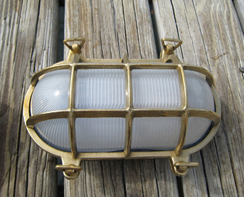 brass oval nautical ship light