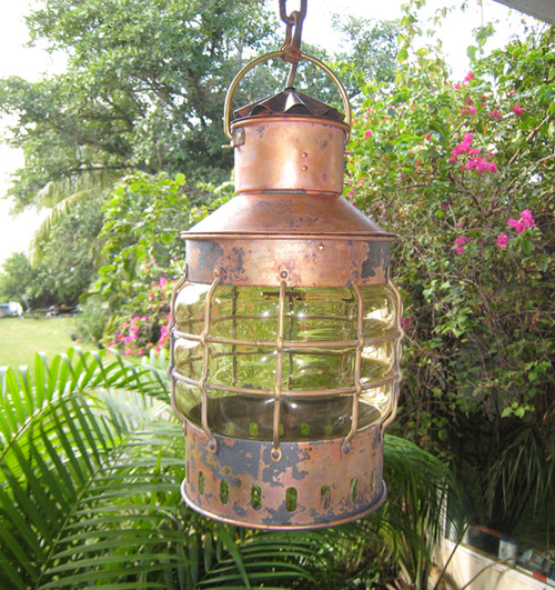hand blown glass marine anchor light