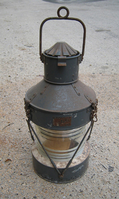 vintage galvanized ship light