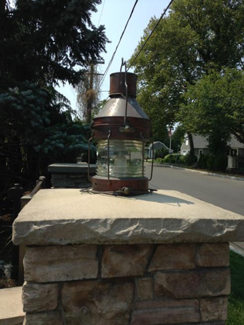 copper ship anchor light
