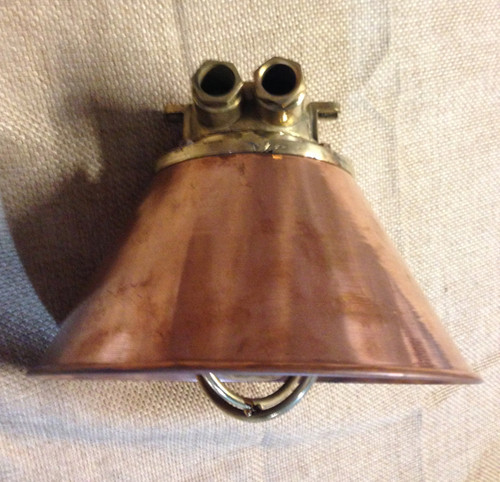 hanging copper shade light