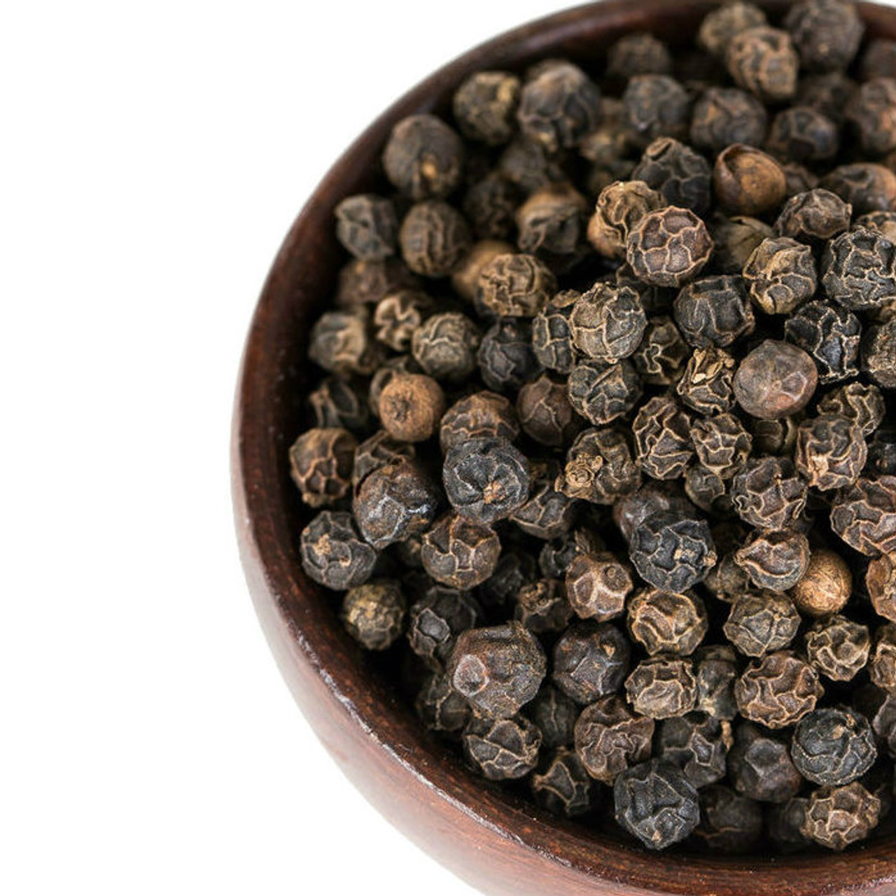 Black Peppercorns are an essential seasoning, highly aromatic with a crisp, robust flavor that complements a wide variety of foods. A natural complement to the deep, berry-like flavor of venison, use it to flavor venison steaks or venison stews. Keep a pepper mill handy to grind Black Peppercorns fresh every time. Olive oil, lemon juice, salt and cracked pepper make a zesty salad dressing. Pepper loses its flavor when cooked for long periods of time, so add close to the end of cooking time.