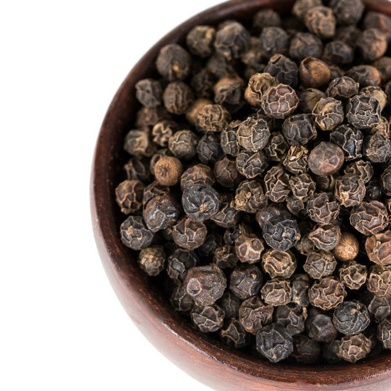 Our Hickory Smoked Black Peppercorns are naturally finished over hickory wood, producing a smooth, robust, smoky flavor and mouthwatering aroma that is a delicious complement to many dishes. Use as a finishing pepper or add to rubs or seasoning blends. Great on grilled meat and vegetables. Add to salsa for smoky kick. Add to Bloody Marys for a subtle twist, or grind and mix with salt and use to rim cocktail glasses. Add to soups and stews during the last minutes of cooking to maximize flavor.