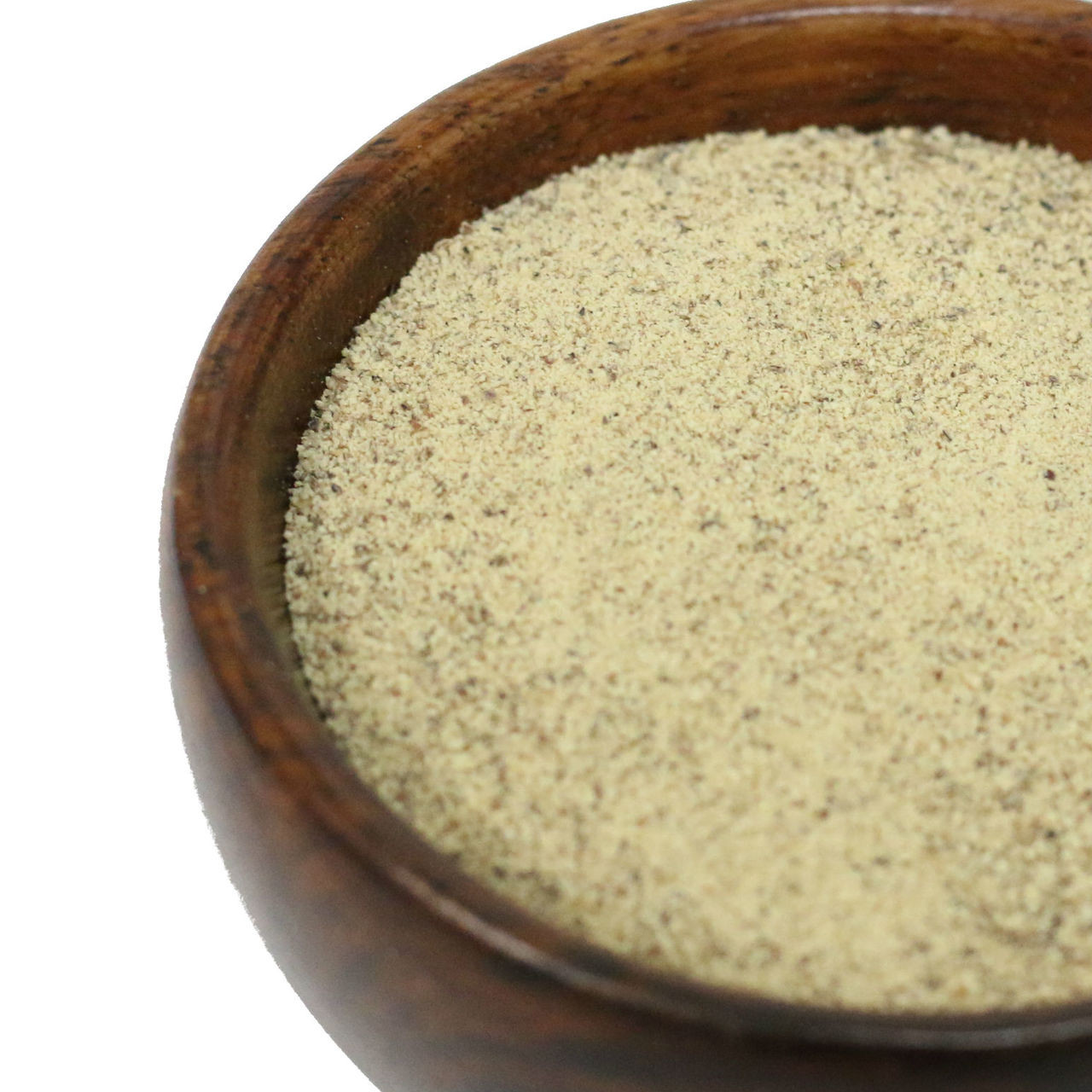 Ground White Pepper is a great alternative to ground black pepper in white or light-colored foods. It has a sharper, spicier flavor than black pepper, with fruity and mildly fermented undertones. Use to season light-colored foods such as cream sauces, white gravies, potato salad and batter coatings for fish and chicken. Excellent for seasoning poultry and fish. Pepper loses its flavor when cooked for long periods of time, so add close to the end of cooking time