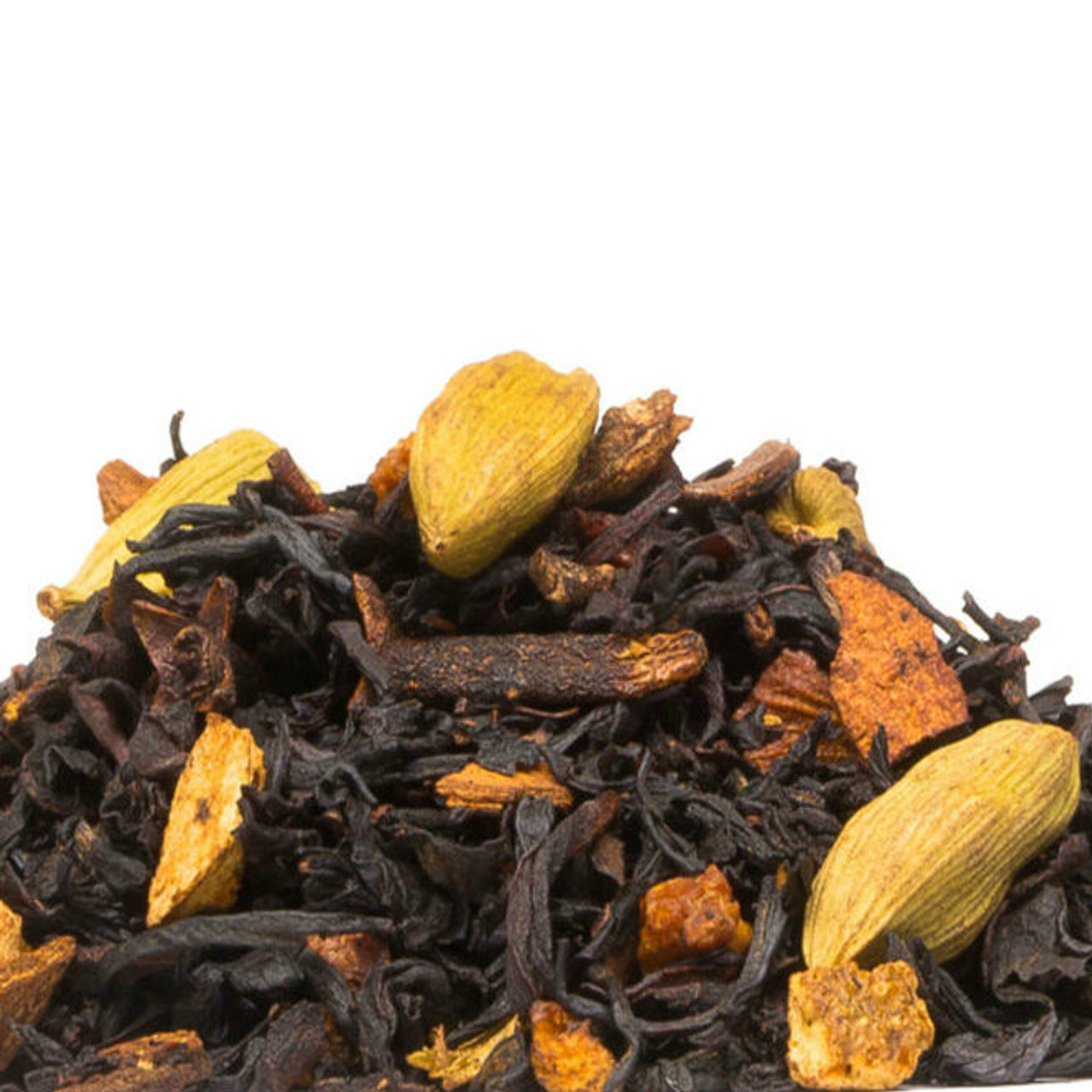 Chai Classic combines Indian Assam black tea with  cinnamon, cloves, cardamom and orange peel that will allow you to create your own Chai Classic tea anytime you feel the urge. Add steamed milk for an instant chai latte! Steep: 1-1.5 tsp, Boiling Water, 3-5 Minutes