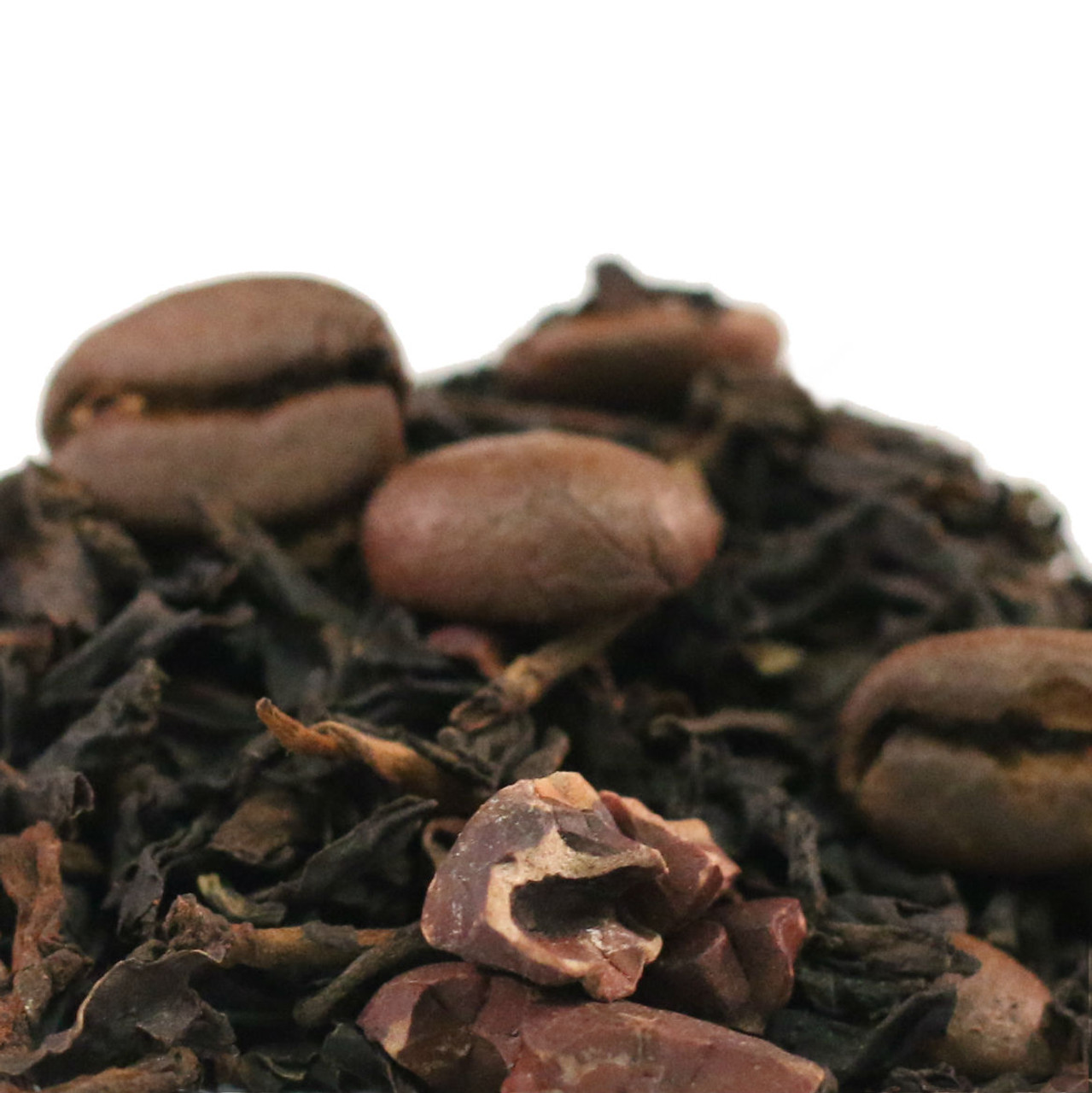 Our Caffè Mocha Black Tea is based on the traditional espresso-based drink with cocoa, but we have used a smooth high-quality black tea as the base and added cocoa and coffee bean pieces to round out this delicious tea.
