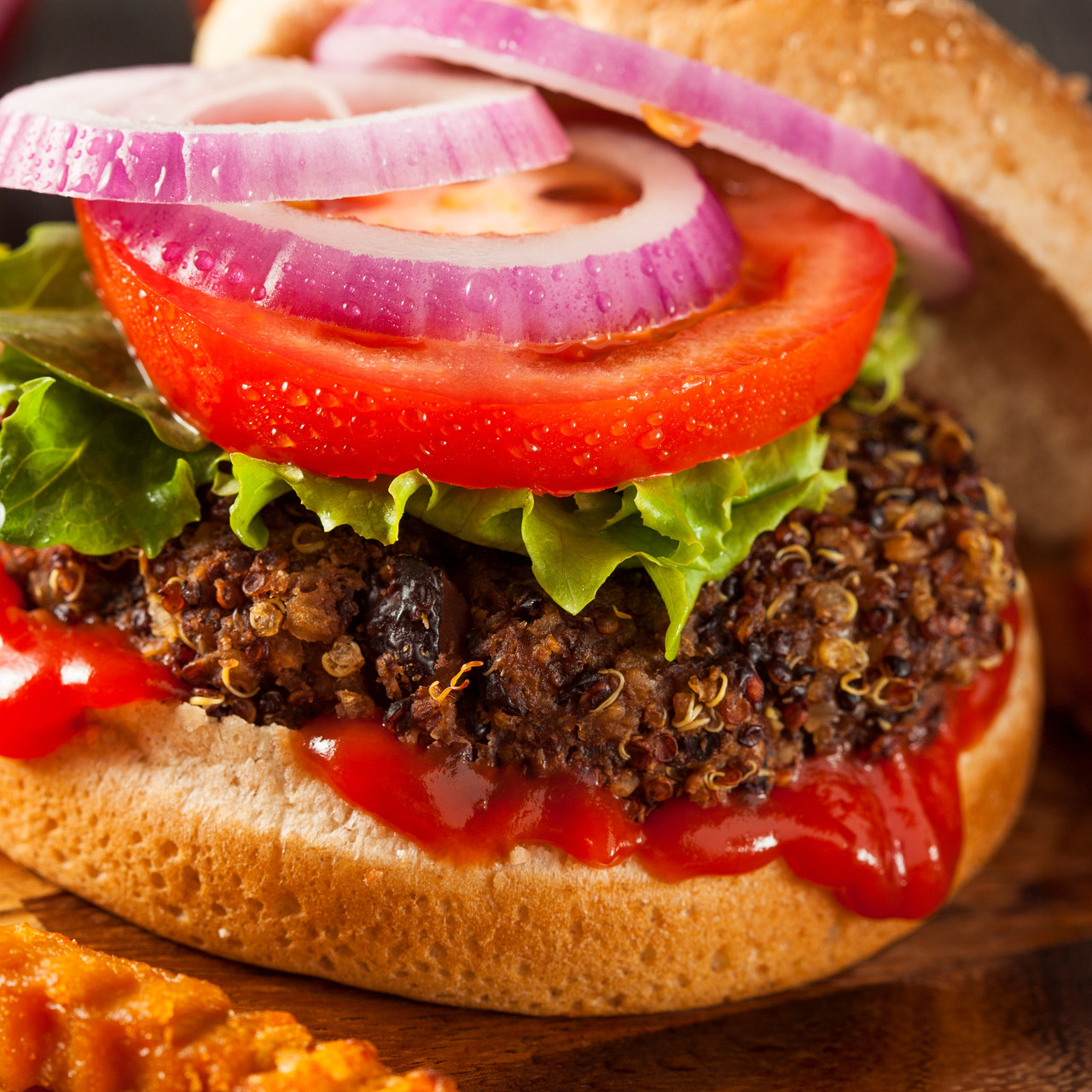 Quinoa and Black Bean Burger