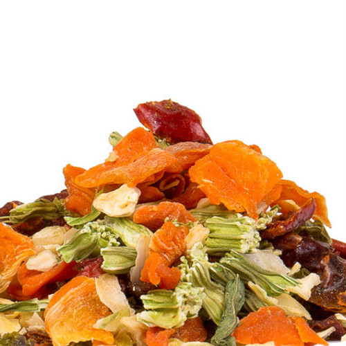 Our Dried Vegetable Blend is a flavorful combination of garden-fresh vegetables, including bell peppers, onion, carrots and celery. Add to soups, stews, sauces and other dishes calling for cooked vegetables. Add to meat, pasta, rice and stir-fry recipes. Re-hydrate and use in stuffings or meat loaf.
