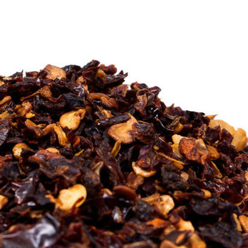 Chipotle flakes are made by crushing jalapeno peppers that were slowly smoked over a natural wood fire. This slow smoking imparts a wonderfully smoky and spicy flavor to whatever it is added to. Use them in enchilada sauces, chili, stews, BBQ ribs and corn bread. Their smoky flavor complements poultry, meats and fall squash. Perfect addition to marinades, spice rubs, or a traditional adobo. Their moderate heat level ranges from 15,000 to 35,000 on Scoville Heat Scale.