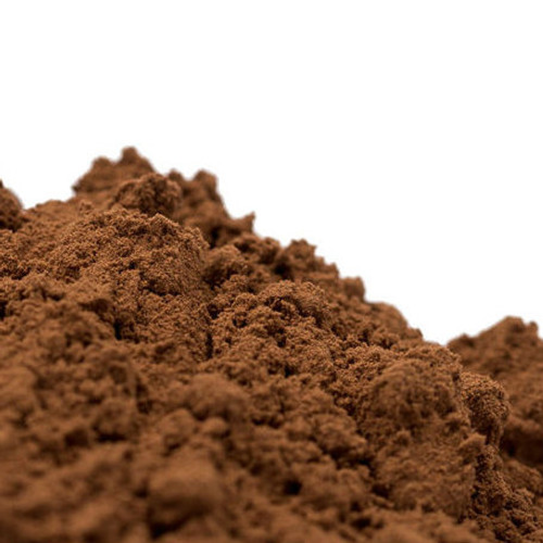 Cocoa powder comes from cocoa beans that grow in pods on the cacao tree. The beans are fermented, dried, roasted and cracked; the nibs are ground to extract about 75% of the cocoa butter, leaving a dark brown paste called chocolate liquor. After drying again, the mass is ground into powder (unsweetened cocoa).