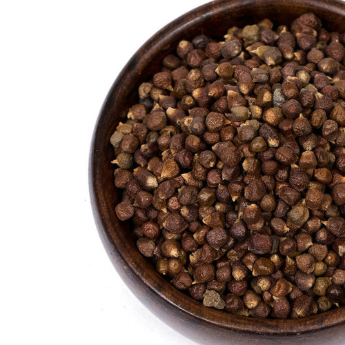 Grains of Paradise are also known as Melegueta pepper. They are the small, red-brown seeds of a cardamom like plant found in West Africa. Grains of Paradise are an aromatic seed with a peppery hot taste that makes a superb substitute for black peppercorns. Grind, crush or use whole as a full-flavored substitute for black peppercorns. Add to mulled wine or other spiced beverages for a nuanced flavor. Add to braised lamb dishes, potato and eggplant dishes and spice mixes.
