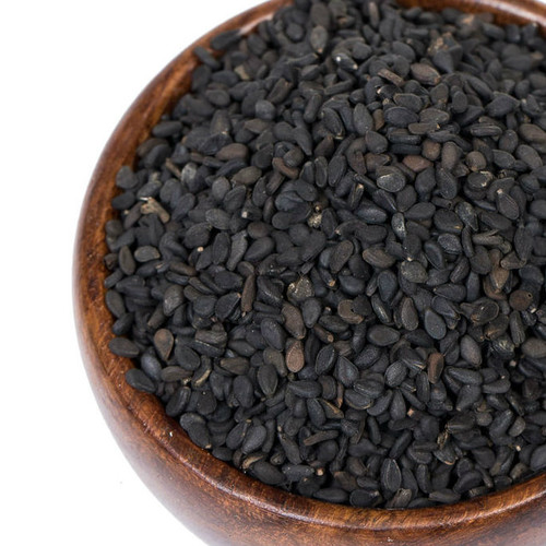 Visually striking and nutritionally beneficial, Black Sesame Seeds have a mild, nutty, slightly sweet flavor and add a delicate crunch to numerous dishes and baked goods. Use these versatile seeds to garnish everything from salads, stir-fried vegetables and Asian noodle dishes to cakes, cookies and breads. Add to breading or batter for fish and poultry to add flavor, color and crunch. Substitute for peanuts in brittle for a unique twist. Stir into sushi rice after cooking for a striking garnish on maki rolls.