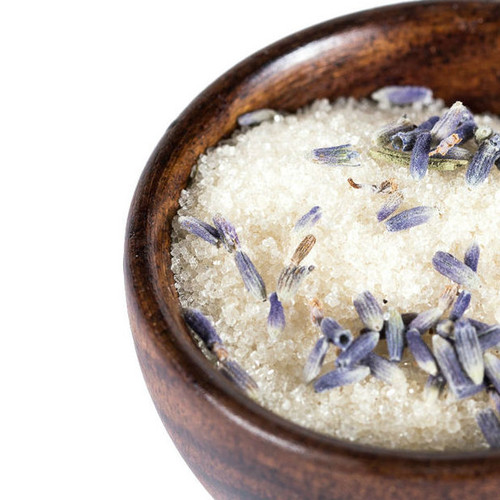 Sweet French lavender lends its fragrant and flavorful oils to natural pure cane sugar. Lavender sugar can be used in all your baking, to make lavender lemonade, or to sweeten a cup of tea. Use to sweeten scone and muffin batter, sprinkle over sugar cookies before baking or mix in softened butter for a sweet, herbaceous spread.