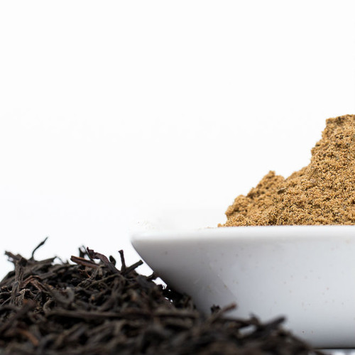 Our hand blended Authentic Chai Masala paired with Ceylon black tea  from the New Vithanakanda Estate.
