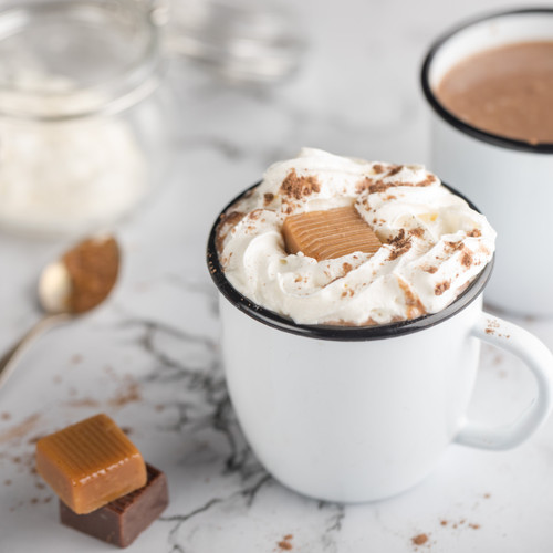 Gourmet Salted Chocolate Caramel Hot Cocoa