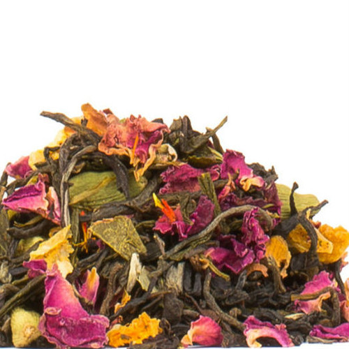 A beautiful and fragrant sensory delight. Our exotic Persian Splendour is a medley of black and green teas with notes of bergamot, jasmine, rose and the warm subtle spice of cardamom and orange. Enjoy this classic Persian tea blend hot or iced and sweetened if you like. Steep: 1-1.5 tsp, 185 degrees for 2-3 Minutes