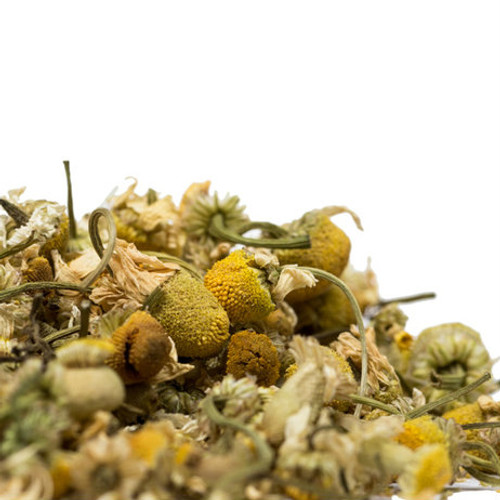 Chamomile blossoms, or flowers, resemble a daisy flower in appearance and are best known for the delicious aromatic herbal tea that they produce. Chamomile flowers are widely used as a mild sedative and for insomnia. Steep: 2-3 tsp, Boiling Water, 5-7 Minutes