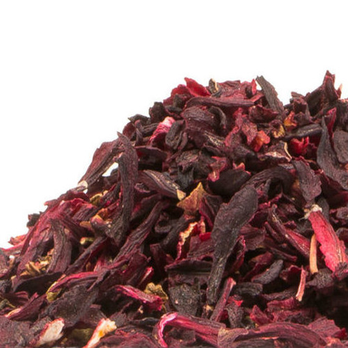 Sourced from North Africa, these hibiscus flowers are full flavored and have a rosy, tart flavor. Preferred over whole hibiscus for tea use.