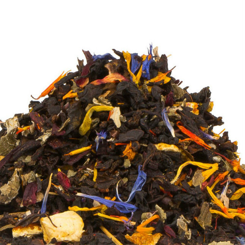 Caribbean Breeze will invoke visions of a warm afternoon on a tropical island. We blend premium black tea with tropical and citrus flavors to produce this thirst quenching delight. Although it is natural to think this is best served cold, it makes for a wonderful hot tea as well. Steep: 1-1.5 tsp, Boiling Water, 3-5 Minutes