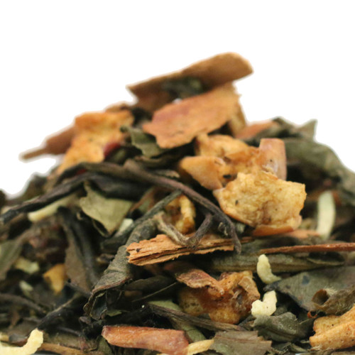 White Christmas Tea combines warm holiday spices with the grassy notes of white tea to deliver a tea that showcases those familiar holiday flavors we have all come to love!