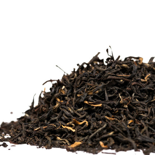 This Assam is a black tea grown at the Khongea Estate in India. The Khongea Estate Assam has received the highest grade available at SFTGFOP (Special Finest Tippy Golden Flowery Orange Pekoe) and includes lots of golden tips, hence it will have a delicate, slightly malty full flavored taste that is wonderful with milk. Steep: 1-1.5 tsp, Boiling Water, 3-4 Minutes