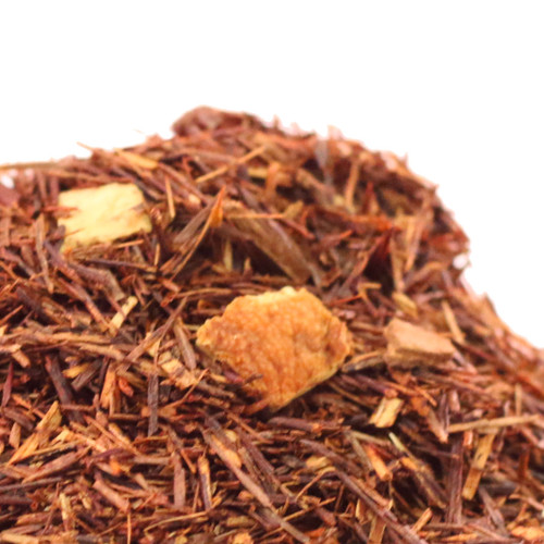 Cinnamon Orange Rooibos is a caffeine free Rooibos that combines citrus and spice while adding a twist to include the nutty essence of almonds. The result is a cup with added depth and character that is one of our most popular caffeine free blends.