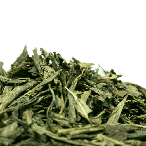 Chinese Sencha - Pan Fired Green Tea is renowned green tea with long, dark needle shaped leaves that produce a cup with a bright clear liquor and sweet grassy flavor. Chinese Sencha is less grassy and vegetal then Japanese Sencha and invokes soft notes of toasted rice with a delicate, clean finish. Steep: 1-1.5 tsp, 175-185 degrees for 1.5-2 Minutes