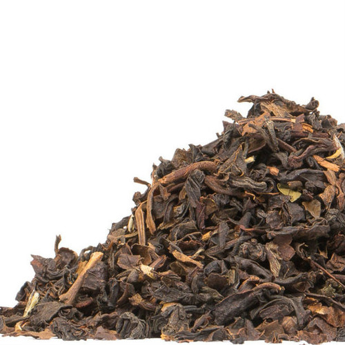 Formosa Oolong (Wu-Long) is a flavorful alternative to the higher priced Fancy grades, with much of the complexity and cup character. The bold leaves, with some silvery tips, produce a liquor with notes of dark grapes and hints of peach. Steep: 1-1.5 tsp, 190 degrees for 4 Minutes