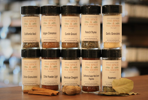 Essential Kitchen Collection Spice Gift Set - A dynamic collection of 13 spices and herbs that every kitchen needs! Perfect for the new bride and groom, as a housewarming gift or a gift to yourself. After all your worth it!