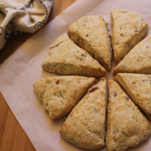 Bacon and Cheddar Scones