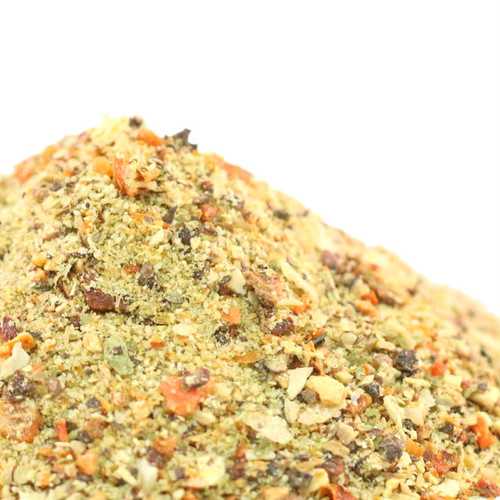 Our all-natural spice blend has no sugar, no salt, no extra anything except extra amazing flavor! Going salt and sodium free shouldn't be boring and our blend of 20 herbs and spices is wonderful with meats, fish, vegetables, salads, soups and popcorn. Sprinkle liberally anywhere you want to enhance the flavors of food naturally or combine with a bit of olive oil and brush on meat or veggies before grilling or roasting. Also makes an excellent addition to oil and vinegar based salad dressings.