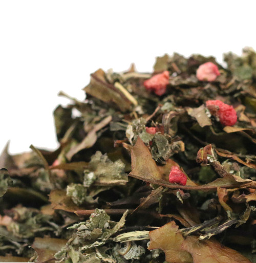 Our Raspberry Vanilla Mint white tea is made on a base of naturally sweet white tea with just the right amount of delicious raspberry to create this fantastic fruit tea. Naturally light in caffeine and high in antioxidants, this is an all day drinker and tastes great hot or iced.