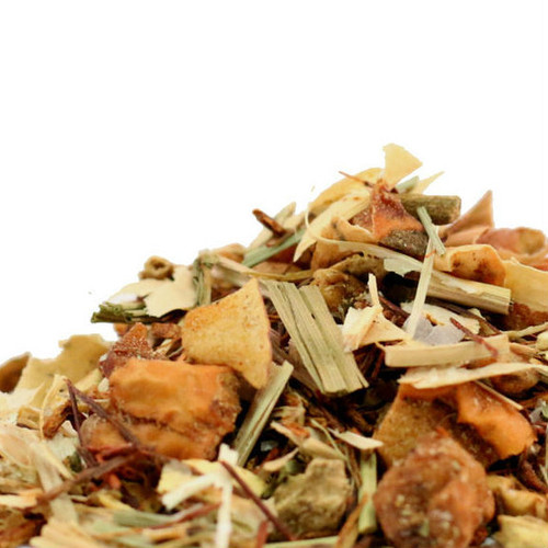 Sweet Citrus Ginseng is an invigorating herbal tea blend that balances ginseng, apple, ginger, St. John's wort and the classical flavors of cloves and cardamom to create a caffeine free sensation that can be enjoyed day or night. Goes well hot or iced and loves a slice of lemon.