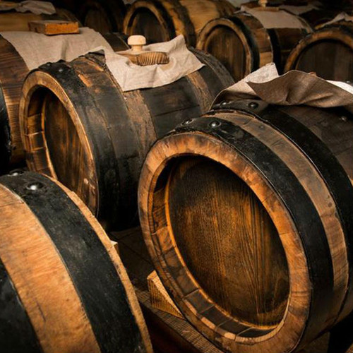Cask Aged 25 Year Balsamic Vinegar - This cask-aged vinegar from Modena, Italy, is made from acetified grape must matured using a method of transferring the vinegar between a succession of high quality barrels of various sizes. A several year refinement process in high quality wood results in a rich and assertive vinegar with a warm brown color and a thick consistency. You will be able to taste and feel the difference between an aged vinegar and the cheap substitutes made by adding caramel or other products flooding US markets.