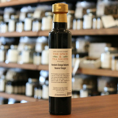 Mandarin Orange Balsamic Reserve Vinegar - Perfect for breakfast, lunch and dinner, you will want to keep this oil handy when making eggs and omelets, steamed and sauted vegetables, stir fry, grilled salmon, trout and chicken.  Try it as a substitute for butter on grilled sandwiches and Panini's and use it to make salsas and fajitas.