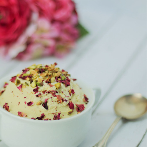 Persian Saffron, Rose and Pistachio Ice Cream