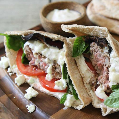 Baharat-Spiced Lamb Burgers