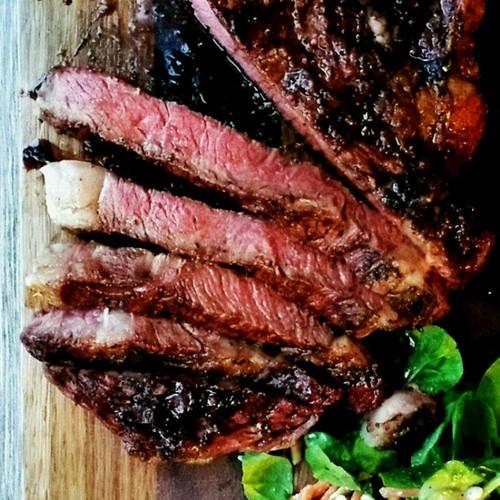 Steak with Balsamic Glaze
