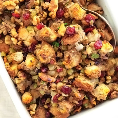 Savory Herb Stuffing with Sausage, Apples & Nuts