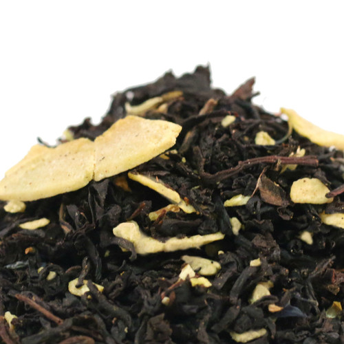 We developed this tea with warm banana bread in mind and created a robust black tea with hints of sweet banana and coconut. Enjoy on it's own  or with a dash of milk. Goes well hot or iced.