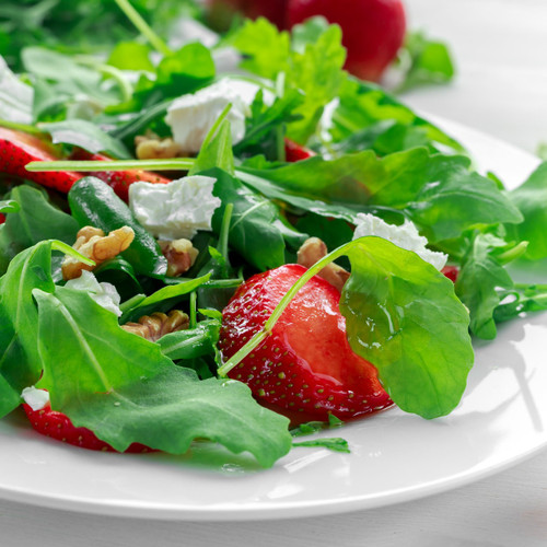 Spinach, Arugula, Strawberry and Feta Salad