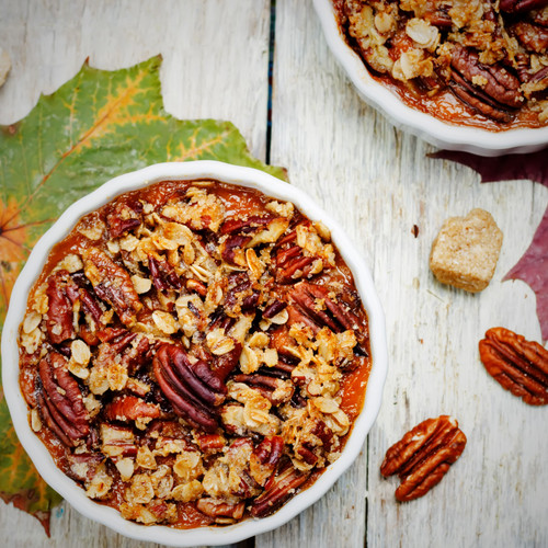 Crunchy Cornflake, Sweet Potato and Pecan Casserole