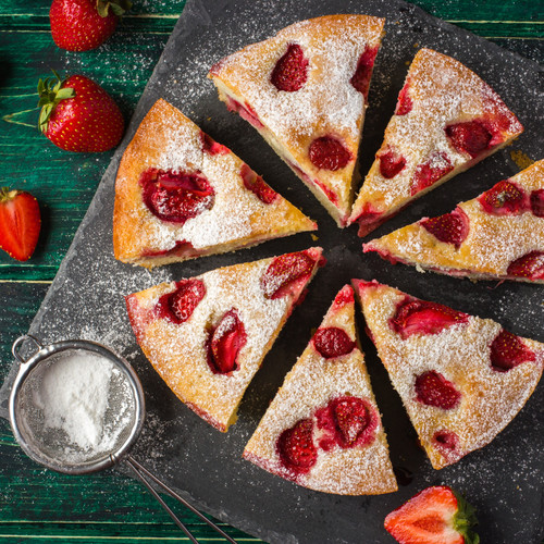 Rustic Strawberry Cake