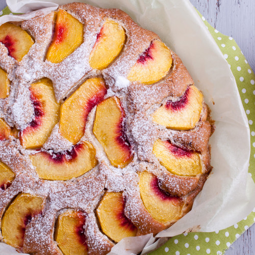 Peach, Cinnamon and Cardamom Cake