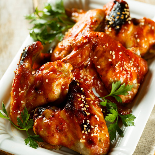 Honey Sriracha Glazed Crispy Baked Chicken Wings Recipe