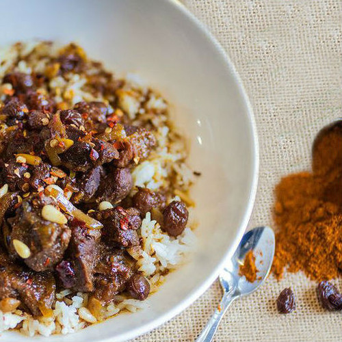 Moroccan Lamb with Raisins and Pine Nuts