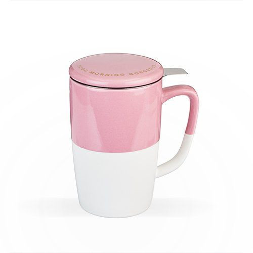 Good Morning Gorgeous - Tea Mug & Infuser - Pink