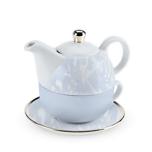 Tea for One - Dusty Blue Floral