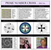 Jain 108 Prime Number Cross Decal & Sticker