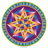 Jain 108 Heart Star Decal & Sticker 2